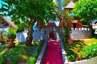 casa do bruxo e castelo
