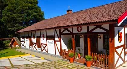 Area tematica Vila Suiça dentro da pousada